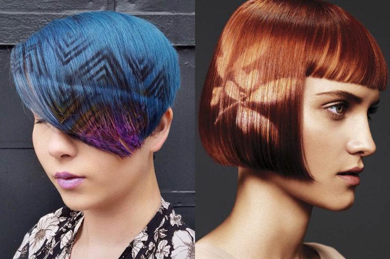 трафаретное окрашивание волос в 2020 году